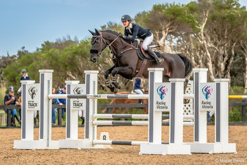 Jessica Rice-Ward and Denison Park Style in the first round of the 130cm Stal Tops Young Rider Championship