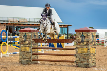 Amelia Douglass had three rides in the Stal Tops 130cm Young Rider event. Amelia is pictured here on Upper Class Z .  The combination placed 11th in a field of 33