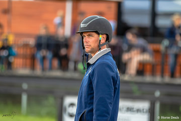 Popular champion Victorian eventer Robert Palm deep in concentration while walking the course for the Interpath 4 CYTE Mini Prix.  Robert presented to the judge Mr Kevin Taranto on Jaybee Vibrant