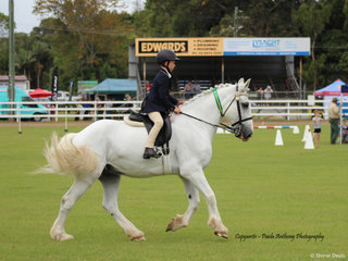 Cooper Leeson enjoying local day at the show