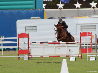 Nathan Johnson going clear for a place in the final