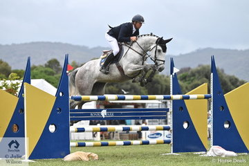 Former Australian Showjumping Champion, Dave Cameron from NSW posted a first round clear riding, 'Benson's Femme Fatale' to take seventh place in the 2019 Keirnan Plant Hire Future Stars Final.