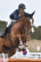 Anneliese Wansey from NSW rode the James Arkins ride, 'KS St Patrick' to take third place in the 2019 Australian Junior Showjumping Championships.