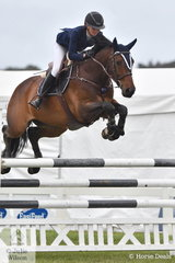 Sally Simmonds from Bourke in NSW came home with a perfect score of 0 riding, 'Oaks Chifley' by Chacco Blue out of a Calando 1 mare to claim the Horseland 2019 Australian Junior Showjumping Championship. Sally dominated the Junior Championships and was also declared Reserve Champion riding the NZ bred Chio Ms.