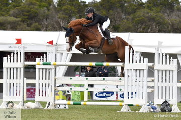 Madeline Sinderberry rides out of the Yandoo Stables and is coached by Dave Cameron. She rode Pip and Sue Middleton's talented 'Ciel' to be the best of the three way jump off to claim the 2019 IRT Young Rider Australian Showjumping Championships.