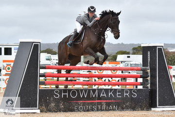 Liz Hoy from NSW rode her, 'Lady Constance' to win the 2019 Racing Victoria Australian OTT Championships.