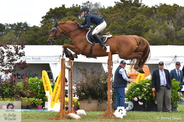 Twenty two year old Brooke Langbecker rode her super, imported, Quidam de Revel stallion, 'Quintago 1' to earn and Olympic qualification in round one of the 2019 Pride's EasiFeed Australian Senior Showjumping Championships.