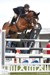 Well know Victorian rider and 1996 Olympian, Russell Johnstone rode the McCann family's imported Dutch gelding, 'Daprice' to jump four and clear in the final Championship class to finish with eleven penalties and claim the 2019 Pride's EasiFeed Australian Senior Showjumping Championships equal Reserve Championship.