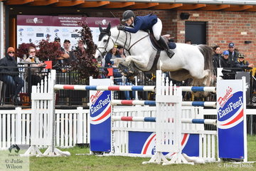 Melissa Blair's wonderful imported mare, 'Zidora', by Zirocco Blue out of a Burggraaf mare, jumped an impressive eight and clear to earn an Olympic MES and take equal eighth place in the 2019 Pride's EasiFeed Australian Senior Showjumping Championships