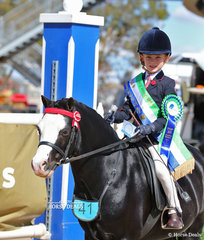 The STARLIGHT BROWBANDS Champion Rider 6 & under 9 years Harrison Galloway-Smith.