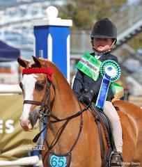 The STARLIGHT BROWBANDS Runner Up Rider 6 & under 9 years Amelia Kilmore.