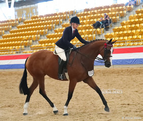 """Shae Partridge and """"LA Monet"""" finishing their workout in The J&R EQUESTRIAN Large Hack event."""