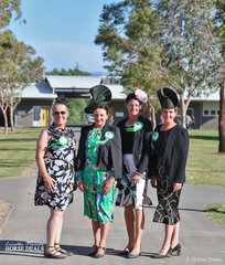 The four judges for this Grand National qualifying event, from left to right:- Kaylene McCarthy from Victoria, Tracie-Lee Wells from NSW, Angela Latter from NSW and Mary Copeman from New Zealand.