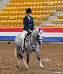 """Trxie Warburton and """"Macarthurparc Entrapment"""" placed Top 10 in The KERRIBEE PARK SHOW HORSES Large Show Hunter Pony event."""