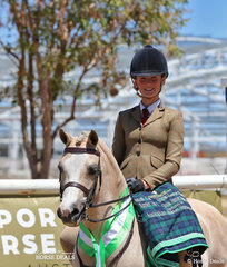 Kenda Park Strauss claimed Runner Up in The AUSTRALIAN HUNTER & SHOW HORSE ASSOCIATION Small Show Hunter Pony event, exhibited by Brianna Crotty and owned by Ella Warren.