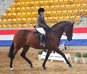 """Jade McCusker riding Leanne McCusker's  """"Bella Vixen"""" to win the highest placed Off the Track Thoroughbred and went Top 10 in The M.R. BREECHES Small Show Hunter Horse event."""