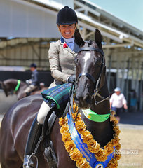 """The EMCEE APPAREL Champion Large Show Hunter Horse """"Rueben Star""""  and Melissa Waller."""
