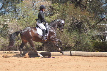 Emma Ward and Alize Black competing in the Novice 2B.