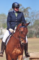 Janet Hamblin and TL Merlin competed in the Preparatory E test.