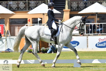 Sophie Doake rode her Grandjany to hold fifth place after the dressage phase of the Horseland CCI3*-L.