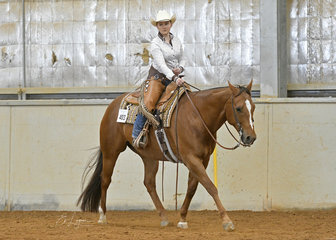 Charlotte Mansley and My Deliberate Breeze, in the All Age Youth Ranch Riding