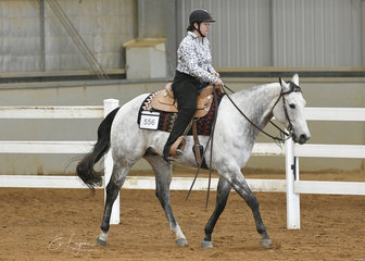 Emma Rush riding PGS Good N Breezy in the Amateur Ranch Riding