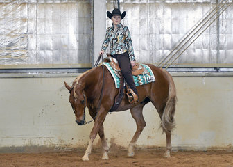 Rachel Elliot riding LT Zips So Smooth in the  Amateur Western Riding