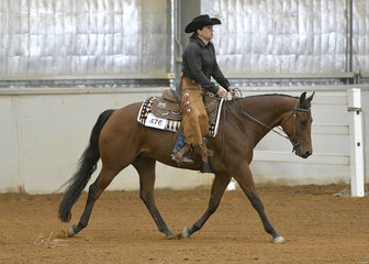 Kate Elliott on GJC Southern Cross, in the Junior Horse Ranch Riding