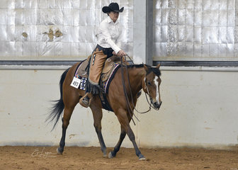 Rae Cribb riding Exceptionally Hot in the Select Amateur Ranch Riding