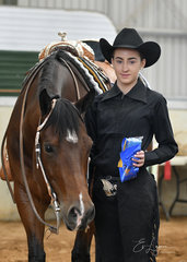 Payton Booth won the All Age Youth Western Riding , with Triandibo Infullplay