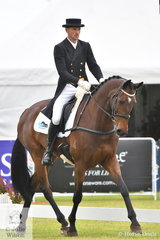 Matthew Gaske holds sixth place after the dressage phase of the RM Williams CCI4*-S riding his Royal Hit gelding, 'Thymes Too'