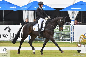 Young eventing rider, Sam Jeffree from Victoria holds eighth place after the dressage phase of the RM Williams CCI4*-S riding his Carbine gelding, 'Jaybee Calypso.