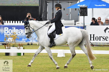 Gemma Tinney from NSW holds fifth place after the dressage phase of the RM Williams CCI4*-S riding Karen Tinney's Clearway mare, 'Wanda'.
