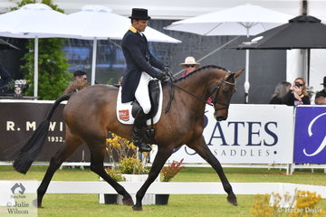 Shane Rose is not long back from a successful trip to Pau in France. He is pictured riding Angela Shacklady's Casall mare, 'Easy Turn' that holds second place after the dressage phase on 28.70 penalties in the RM Williams CCI4*-S