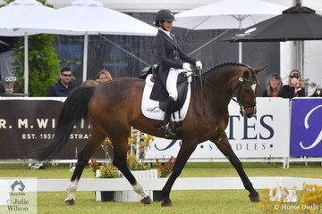 Emma Bishop from NSW was the first before the judges and holds the lead after the dressage phase of the Mitsubishi CCI5*-L on 30.30 riding her talented mare, 'CP Issey Miyake' by Staccato out of the well performed, Isabella Rossellini.