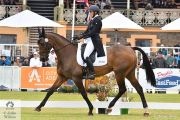 There is a strong contingent from New Zealand this year at the Mitsubishi Australian International 3DE and Bundy Philpott is pictured aboard her, 'Tresca NZPH by Fuego du Prelet during the dressage phase of the CCI5*-L.