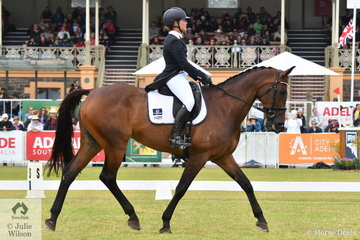Well performed NSW rider, Jade Findlay is pictured aboard her equally well performed, 'Oaks Cordelia' by Premier des Hayettes during the dressage phase of the Mitsubishi CCI5*-L.