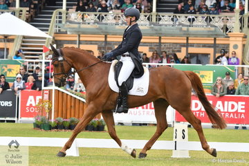 It is good to see Hamish Cargill back in action at the top of the sport. The NSW rider is pictured aboard his Capone gelding,  'Legolas KPH' during the dressage phase of the Mitsubishi CCI5*-L.