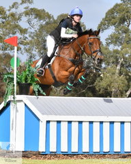Tara Rogers from NSW added just two cross country time penalties today riding 'Denison Park Smooth' to move from 24th to 13th place in the Horseland CCI3*-L.