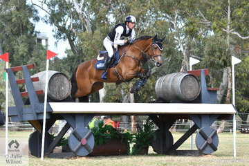Matthew Gaske from Queensland is pictured aboard, 'Bellhaven Cumbria' during the cross country phase of the Horseland CCI3*-L.