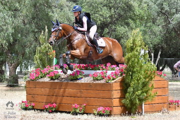 Ella Smith  from Victoria is pictured aboard her Jaybee Alabaster gelding, 'Jaybee Altimate' during the cross country phase of the Horseland CCI3*-L.