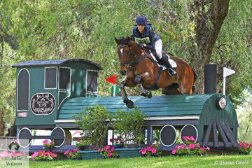 Hayley Frielick riding for New Zealand posted a clear cross country run riding Kathryn Robertson's, 'Dunedin The Brave' and they hold ninth place heading in to the final showjumping phase tomorrow.