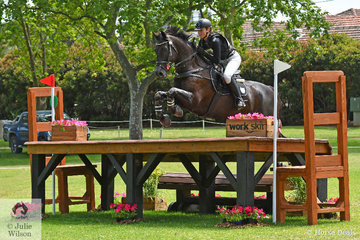 Courtney Slattery from NSW posted a clear cross country run in the Horseland CCI3*-L riding her, 'Rocky Road'.