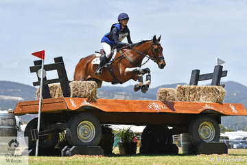 Hayley Frielick riding for New Zealand added just time penalties across country in the Mitsubishi CCI5*-L riding her, 'Class Action LP'. They hold ninth place heading in to the final phase tomorrow.
