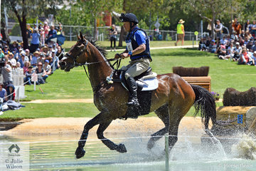 Michael Dagostino from WA was thrilled to post a clear jumping round in the Mitsubishi CCI5*-L riding his 'Kinnordy Gatow'.  they added time penalties to hold tenth place heading in to the final phase.