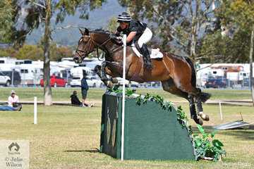 Madison Crowe from New Zealand was leading after the RM Williams CCI4*-S. dressage phase and slipped to third with the addition of 9.6 cross country time penalties riding her talented, 'Waitangi Pinterest'.