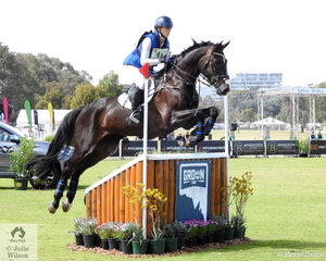 Gemma Tinney posted a clear and clear on time  Horseland CCI3*-L cross country run riding Karen Tinney and Tim Game's, 'Diabolo' by Diarado to lead the field heading in to the final jumping phase tomorrow.