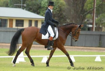 Luke Jones with his 'Soul' during the dressage phase of the Cape Jaffa Anchorage CIC*** competition.