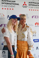International Equestrian YouTuber star, This Esme was a popular visitor to the 3DE, seen here with Megan Jones.