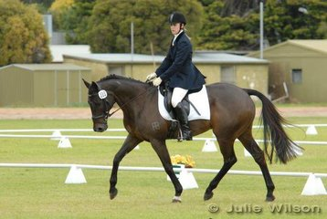 Sam Speake and 'Boreto' during the dressage phase of the Horse Deals CIC* competition.